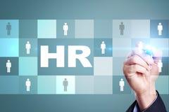 Personalmanagement, Stunde, Einstellung, Führung und Teambuilding Geschäfts- und Technologiekonzept lizenzfreies stockbild