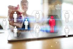 Personalmanagement, Stunde, Einstellung, Führung und Teambuilding Geschäfts- und Technologiekonzept lizenzfreie stockfotografie