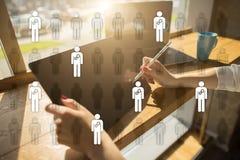 Personalmanagement, Stunde, Einstellung, Führung und Teambuilding Geschäfts- und Technologiekonzept stockbilder