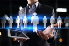 Personalmanagement, Stunde, Einstellung, Führung und Teambuilding Geschäfts- und Technologiekonzept stockfotografie