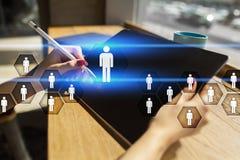 Personalmanagement, Stunde, Einstellung, Führung und Teambuilding Geschäfts- und Technologiekonzept stockfoto