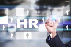 Personalmanagement, Stunde, Einstellung, Führung und Teambuilding Geschäfts- und Technologiekonzept stockbild