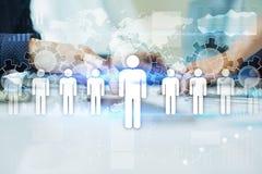 Personalmanagement, Stunde, Einstellung, Führung und Teambuilding Geschäfts- und Technologiekonzept lizenzfreie abbildung