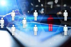 Personalmanagement, Stunde, Einstellung, Führung und Teambuilding Geschäfts- und Technologiekonzept stockfotos