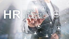 Personalmanagement, Stunde, Team Building und Einstellungskonzept auf unscharfem Hintergrund stockbild