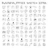 Personalresurs- och affärssymboler royaltyfri illustrationer