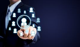 Personalresurser, CRM och rekryteringaffärsidé, kopieringsspac Royaltyfri Fotografi