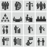 Personalresurser och ledningsymbolsuppsättning. Fotografering för Bildbyråer