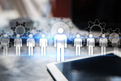 Personalresursledning, timme, rekrytering, ledarskap och teambuilding royaltyfri illustrationer