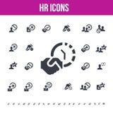 Personalresurssymboler för rengöringsduk/mobilskärmar Arkivfoto