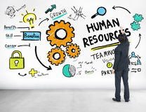 Personalwesen-Beschäftigung Job Teamwork Businessman Ideas Concep Stockbild