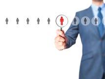 Personalwesen, CRM, Data - Mining, Einschätzungsmitte und soziales stockfoto