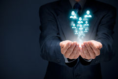 Personalwesen und Kundenbetreuung Lizenzfreie Stockfotografie