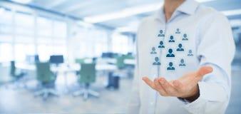 Personalwesen und Kundenbetreuung Stockfotos