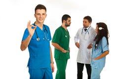 Personas acertadas de doctores imágenes de archivo libres de regalías