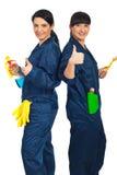 Personas acertadas de las señoras de la limpieza Foto de archivo libre de regalías