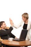 Personas acertadas - hombre y mujer de negocios Foto de archivo libre de regalías