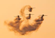 Personas aeroacrobacias de la visualización de las láminas Imagen de archivo libre de regalías