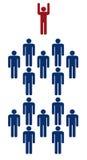 Personas - aisladas en blanco stock de ilustración