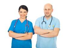 Personas cómodas felices de los doctores foto de archivo libre de regalías