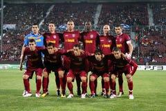 Personas CFR Cluj en Champions League Fotografía de archivo