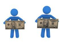 Personas con el dinero Imagen de archivo