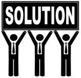 Personas con la solución Imagen de archivo