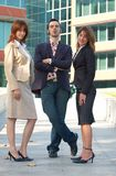 Personas confidentes de las ventas Foto de archivo libre de regalías