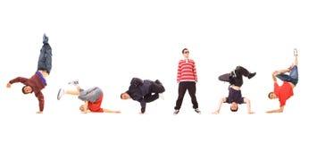 Personas de Breakdance Fotografía de archivo