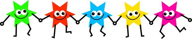 Personas de cinco estrellas ilustración del vector