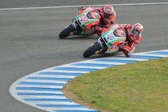 Personas de Ducati en la prueba de Jerez Imagenes de archivo