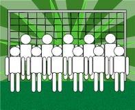 Personas de fútbol Foto de archivo libre de regalías