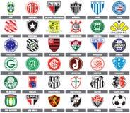 Personas de fútbol brasileñas stock de ilustración
