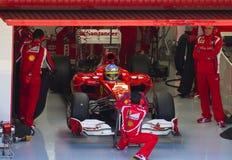 Personas de Ferrari F1 Imagen de archivo libre de regalías