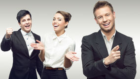 Personas de hombres de negocios acertados jovenes Imágenes de archivo libres de regalías