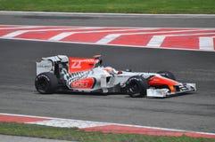 Personas de HRT F1 Fotografía de archivo
