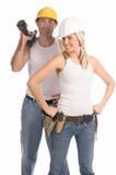 Personas de la construcción Foto de archivo libre de regalías