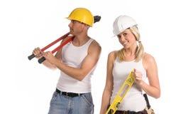 Personas de la construcción fotos de archivo