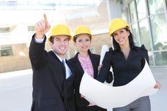 Personas de la construcción de edificios Imagen de archivo
