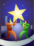 Personas de la estrella libre illustration