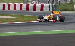 Personas de la fórmula 1: Renault Imagen de archivo libre de regalías