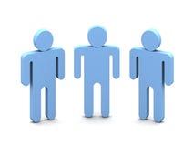 Personas de la insignia tres Imagenes de archivo