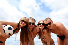 Personas de la playa Fotografía de archivo