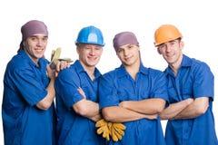 Personas de los trabajadores de construcción Fotos de archivo libres de regalías