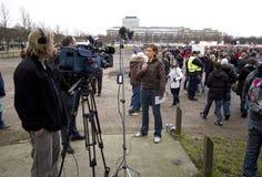 Personas de noticias Imagen de archivo