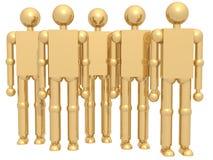 Personas de oro Imagen de archivo libre de regalías