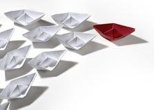 personas de papel de la nave Fotografía de archivo libre de regalías