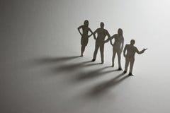 Personas de papel del asunto Fotos de archivo libres de regalías