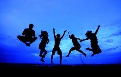 Personas de salto Fotografía de archivo