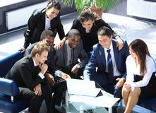 Personas de trabajo felices del asunto Imagen de archivo libre de regalías